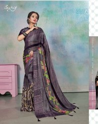 Designer Brasso Printed Saree