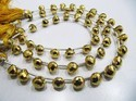 Beautiful Golden Pyrite Onion Shape Faceted Beads 8 Inch Long