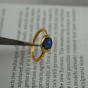 Fire Opal Ring Faceted Gemstone Ring Gold Plated Ring