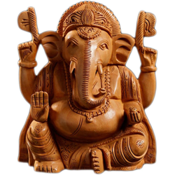 Hastkala Arts Wooden Ganesha