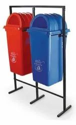 Wet And Dry Plastic Pole Mounted Dustbin