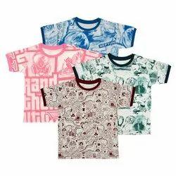 Kids Half Sleeves Round Neck Cotton T shirts