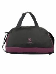 Black And Wine Duffle Gym Bag