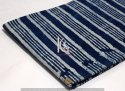 Indigo Dabu Striped Block Print Cotton Fabric