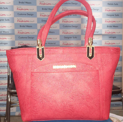 13d2a8b2ae Pink Linen Red Color Ladies Purse New Design