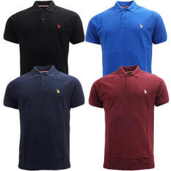Mens Cotton Collar T Shirts, Size: S - XXXL