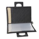 Plain Black Leather Conference File Folder With Handle, Packaging Size: 50 Pieces, Size/dimension: Height 15