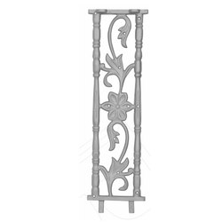 Modern Cast Iron Stair Railing Pillar