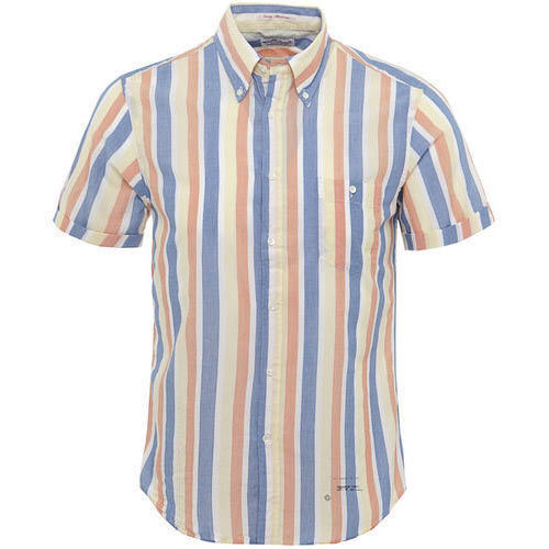 Stripes Mens Half Sleeve Striped Shirt a029d582e