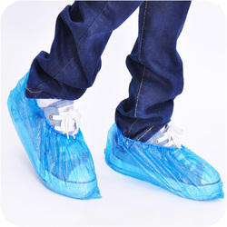 Large PE Blue Disposable Shoe Cover