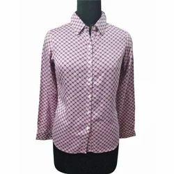 Ladies Rayon Printed Shirt, Size: S to XL