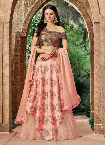 4afc2cd169 Silk Graceful Designer Reception Wear Lehenga Choli, Rs 4831 /piece ...
