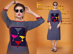 multi colour fancy rayon kurti