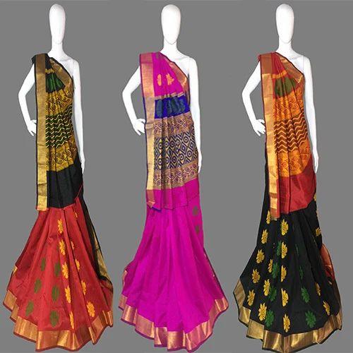 Fashionable Designer Resham Embroidery Work Handloom Silk Saree