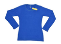 Namakool Plain Women's Full Sleeve Blue T shirt