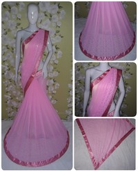Georgette Fashion Arrival Stone Work Light Pink Color Saree