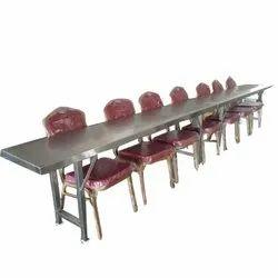 6 Seater Metal Dining Table Set