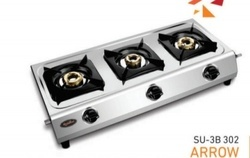 Stainless Steel 3 Burner Gas Stove ARROW SU-3B-302