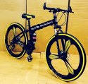 Black Carbon Steel Mercedes-benz Foldable Cycle With 21 Shimano Gears