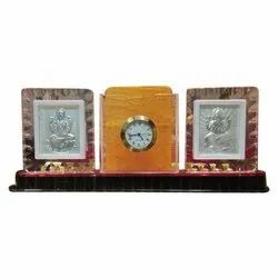 Silver Wall Frame With Watch