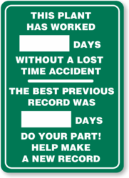 Safety Scoreboard, Shape: Rectangle
