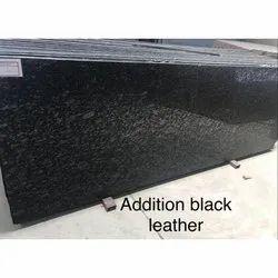 LGM Addition Black Leather Granite, Thickness: 10-15 mm