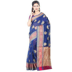Ladies Chanderi Cotton Printed Ethnic Saree