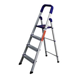 Parasnath Home Pro 4 Steps Light Weight Aluminium Heavy Duty Folding Ladder