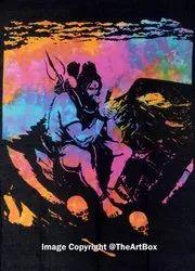 Indian Lord Shiva Smoking Tapestry Ganja Tapestry Poster Size 100 Cotton 30 X 40 Inches द व र क ल ए ट प स ट र ह ग ग स ट प स ट र व ल ह ग ग ट प स ट र क द व र लटकन The