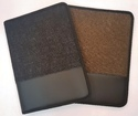 Black, Brown Zipper Jute And Leather Document Folder, Paper Size: A4