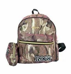 Multicolor Print Glittering Girls Backpack