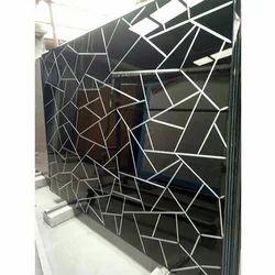 Prime V Grooving Black Glass, Shape: Rectangle