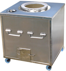 Stainless Steel Square SS Tandoor, For Commercial, Capacity: 250 Litre
