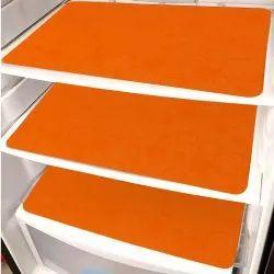 Plain Orange Fridge Mats