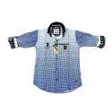 Kids Satin Cotton Printed Shirt