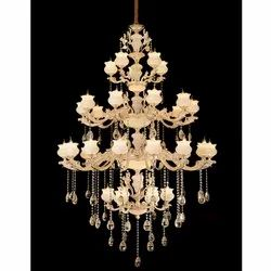 CHL-GLD-S17395X36C LED Jaquar BERGENIA Chandelier Lamp Shade for Decoration