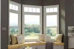 White UPVC Double Hung Window