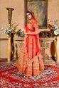 Designer Red Color Bridal Wear Lehenga