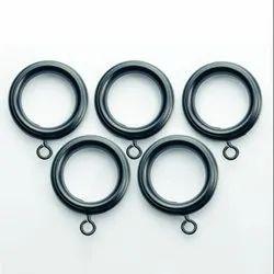 19 mm or 25 mm Black Matt Curtain Rings