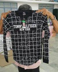 Men Printed Black Cotton T-Shirt