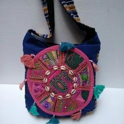 Khambhadi Ribbed Work Multi-Color Shoulder Bag