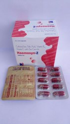 Haemosyn-Z Carbonyl Folic Acid With Zinc Capsules, Packaging Size: 10x10, Packaging Type: Box