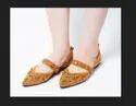 Dech Barrouci Party Wear Thrill Brown Slip-ons Ladies Flat Sandal