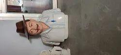 Bhagat singh marble bust statue