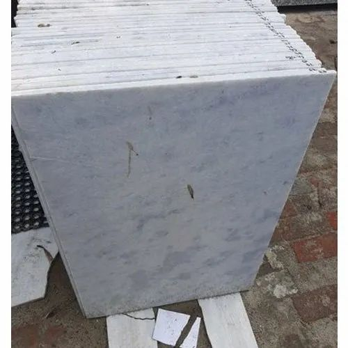 Polished Finish Cut To Size White Marble Slab, Application Area: Countertops, Thickness: 10-15 mm