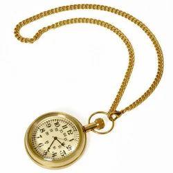 Golden Round Antique Gandhi Watch