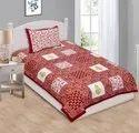 Designer Printed Cotton Single Bed Sheet