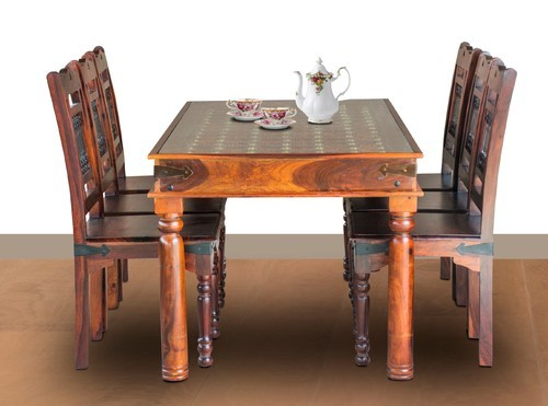 Six Chairs Maple Finish Dining Set