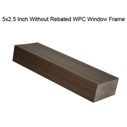 Brown 5x2.5 inch Non Rebated WPC Window Frame