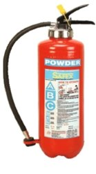 Safex BC (DCP) Squeeze Grip Cartridge Type Fire Extinguishers - 09kg
